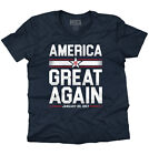 America Great Again Donald Trump Shirt | USA Patriot Election V-Neck T Shirt image