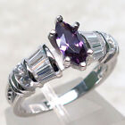 DELIGHTFUL 1CT AMETHYST 925 STERLING SILVER RING SIZE 5-10