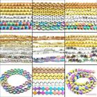 assorted patterns circle heart cross star hematite gemstone spacer beads 16