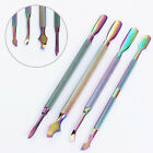 1Pc BORN PRETTY Stainless Steel Cuticle Pusher Remover Rainbow Manicure Pedicure