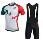 New Short Sleeve Men Cycling Jersey bib shorts Suit Breathable MTB Bike Clothing