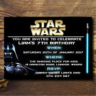 STAR WARS PERSONALISED BIRTHDAY INVITATIONS, PARTY INVITES, HIGH QUALITY