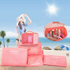 6Pcs Clothes Storage Bags #B Packing Travel Luggage Organizer Pouch Waterproof