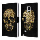 HEAD CASE SKULLS IN ANIMAL PRINTS LEATHER BOOK CASE FOR SAMSUNG GALAXY NOTE EDGE