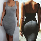 Women Summer Sleeveless Outfit Bandage Bodycon Slim Evening Party Mini Dress
