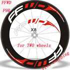 Road Bike Wheel Stickers for race decals FFWD F9R fast forward 80 88 90 mm Rim