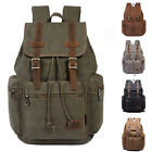 Women Girl Boy Canvas Sport Rucksack Camping Satchel Shoulders Laptop Hiking Bag
