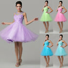 Women Short Tulle Cocktail Party Formal Evening Ball Prom Dress Wedding Gown New