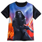 Disney Store Star Wars Kylo Ren Sumlimated Art Boys T Shirt T Size 7/8 10/12 14