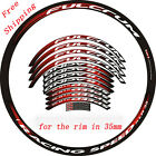 Carbon Road Bike wheel Stickers for Fulcrum xlr Bicycle rim depth 35 mm Decals