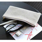 Holiday Pencil Pouch - PLEPIC - Classy Cotton Fabric Zipper Slim Pen Pouch Bag
