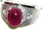Men's Natural Ruby 925 Sterling Silver Ring  Appraised @ $487  #R7