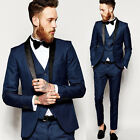 Fashion Groomman Suits Slim Fit Groom Formal Wedding Suits Men Business Tuxedos