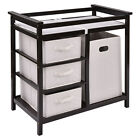 Infant Baby Changing Table w/3 Basket Hamper Diaper Storage Nursery Home Decor