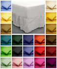 Cotton Blend FITTED VALANCE BED SHEETS Non Iron Easy Care Single 4FT Double King