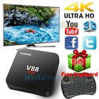 V88 Smart Android 5.1 Quad Core 8GB TV Box WIFI 4K 1080P Media Player+Keyboard