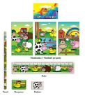 5 piece Farm Animal Stationery Set, party loot bag filler gift