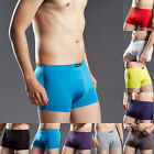 Mens Boxer Briefs Underwear Stretch Fashion Trunk Shorts Bulge Underpants L-3XL