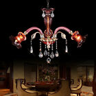 MTN LED 5W E14 Modern Flower Crystal Pendant Lamp Garden Balcony Chandelier Lamp