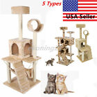 """36""""/52"""" Cat Tree Tower Condo Furniture Scratch Post Kitty Pet House Play House B"""