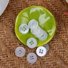 100/200/500pcs Resin Buttons Round 4 Holes Clear Baby Shirt Sewing Craft DIY