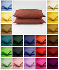 Cotton Blend PILLOW CASES HOUSEWIFE / OXFORD EDGE / BOLSTER Non Iron Easy Care