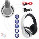 Foldable Wireless Bluetooth 4.2 Stereo Silver Headphone FM Mic Handsfree S247