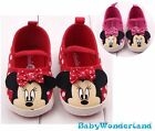 Red/Pink Minnie Mouse Baby Girls Shoes Prewalkers Size 0-6m,6-12m,12-18m