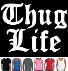 Thug Life Gangsta gangster hip hop rap Men's ladies sizes Charts hand printed
