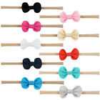 1pc Cotton Headband Bow Baby Girls Toddler Hair Elastic Band Accessorie