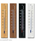 Analog Wall Thermometer Fahrenheit Scale Solid Beech Wood 7.8 inch in 4 Finishes