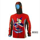 Men Full Zip Red Soft Shell Fleece Lined Jacket Fishing Coat Windproof Thermal