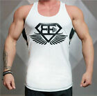Men Sleeveless Muscle Bodybuilding Tank Top Gym Singlet Fitness Sport Vest