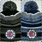 Los Angeles Clippers New Era Pom Pom Beanie ~Knit Hat~Classic NBA Patch/Logo~New on eBay