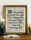 WIZARD of OZ Home Dorothy QUOTE CALLIGRAPHY DICTIONARY ART PRINT House Decor
