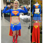 Woman Adult Halloween Costume Super Girl Superman's Girlfriend Party Fancy Dress