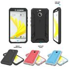 HTC Bolt POETIC Shockproof Complete Protection Hybrid Case w/ Built-In Screen