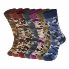 Men Fashion Camouflage Cotton Long Athletic Socks Outdoor Sports Breathable