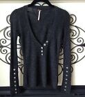 free prople charcoal ribbed sweater size xs