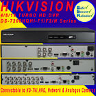 Hikvision 4/8/16 Channel Turbo HD DVR CCTV 1080p HD CCTV Security Video Recorder