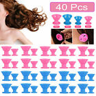 10-40x DIY Silicone Hair Curlers Rollers Magic Soft Curling Styling Care Tool US