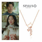 """STYLUS Jewelry Pink Gold V Necklace Silver925 K Drama """"Goblin"""" 도깨비 공유 김고은 Gift"""