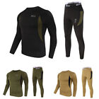 Mens Thermal Winter Warm Underwear Set Long John Bottom and Long Sleeve Top XS-L