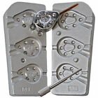 Aluminium mould for 3 Closed Pear Grippa weights, 65g, 85g, 95g.  Bolt Rig Style