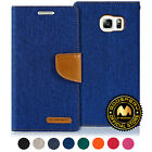 GOOSPERY® Canvas Diary Flip Stand Wallet Case For Samsung Galaxy S6 Edge+ Plus