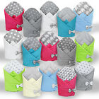 MINKY SWADDLE WRAP BABY NEWBORN INFANT BLANKET COTTON SLEEPING BAG COTTON