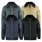 Mens Aviator Jacket Brave Soul Greenfield Borge Collar MA1 Coat