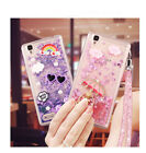 Rubber Soft Case Bling Water Stars Moving Quick Sand Cover For Oppo F1F/F1/A35