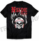 033 Hells Angels NorthSide Spain black T-Shirt model 6 Front printed