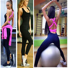 Womens Yoga sports Workout Leggings Pants Gym Fitness Jumpsuit Athletic Clothes